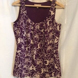 Tops - Banana Republic purple floral tank top